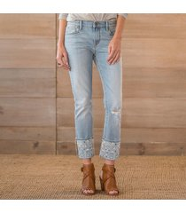 driftwood jeans navajo diamond emb. crop