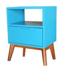 mesa de cabeceira on azul bebe base madeira pinhao - 57189 azul