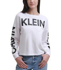 calvin klein jeans traveling logo print top