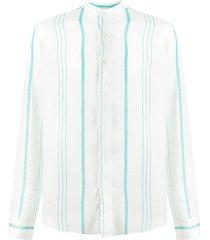 peninsula swimwear la greca striped shirt - white