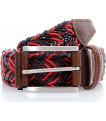 anderson's belts braided twine  red belt | deep navy/red | af2949002