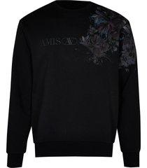 river island mens black floral print sweatshirt