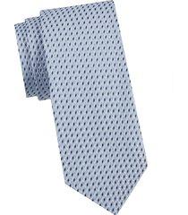 armani collezioni men's printed silk tie - light sky