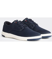 tenis lace ups azul tommy hilfiger