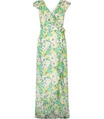 maxi-jurk met bloemenprint olga  groen