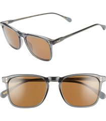 men's raen wiley 54mm polarized sunglasses - slate/ vibrant brown pol