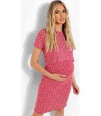 zwangerschap bloemenpatroon bodycon borstvoeding jurk, red