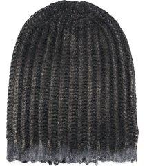 avant toi ribbed knit beanie - grey