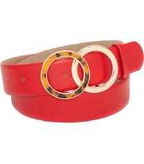 inc round tortoiseshell buckle panel belt, created for macy's