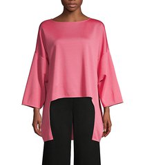 milano oversized high-low pullover