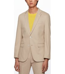 boss men's micro-patterned slim-fit suit