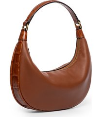 staud mini sasha leather shoulder bag - brown