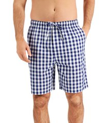 club room men's gingham pajama shorts, created for macy's