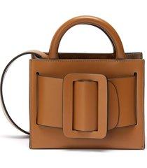 'bobby 18' mini buckle leather satchel