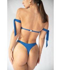 miami dół bikini niebieski