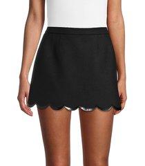 redvalentino women's wool-blend skirt - nero - size 40 (8)