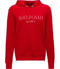 balmain 3d logo hoodie