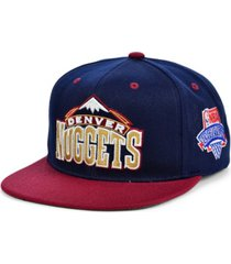 mitchell & ness denver nuggets hardwood classic lotto pick snapback cap