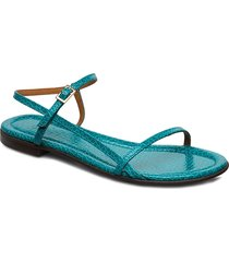 sandals 4132 shoes summer shoes flat sandals blå billi bi