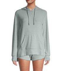 vintage havana women's hacci front-zip hoodie - macchiato - size s