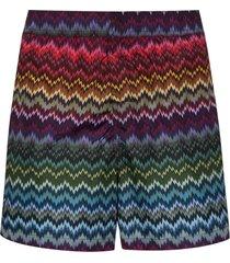 missoni zigzag-print swim shorts - purple