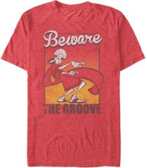 disney men's the emperor's new groove kuzco beware of the groove short sleeve t-shirt