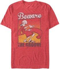 disney men's the emperor's new groove kuzco beware of the groove short sleeve t-shirt