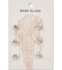 river island womens diamante hair clip 6 pack