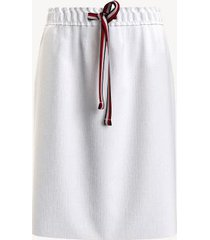 tommy hilfiger women's essential solid skirt bright white - s