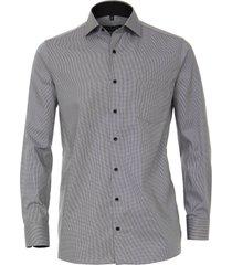 casamoda heren overhemd oxford navy contrast comfort fit