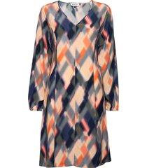 dhmayla ls dress korte jurk multi/patroon denim hunter