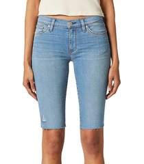 hudson women's amelia mid-rise cut-off bermuda shorts - lights on - size 26 (2-4)