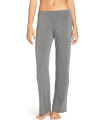 women's pj salvage jersey pajama pants, size small - grey