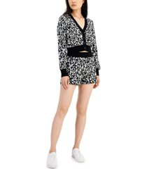 bar iii jacquard knit cropped cardigan, created for macy's