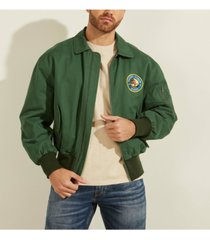 men's coated twill bomber jacket