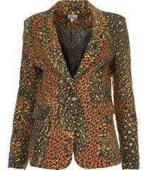 blazer met luipaardprint zuari  groen