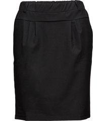 jillian skirt knälång kjol svart kaffe