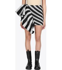 striped lurex skirt