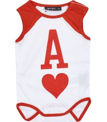yporque ace of hearts print rompers