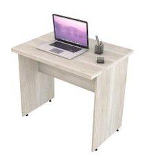 escrivaninha mesa de escritório trevalla 0,80m tampo 30mm snow