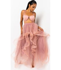 akira her way tiered tulle maxi dress
