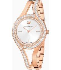 orologio eternal, bracciale di metallo, bianco, pvd oro rosa
