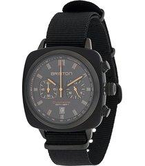 briston watches clubmaster sport watch - black