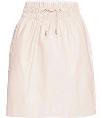 vmava hw short coated skirt kort kjol creme vero moda