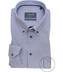 gestreept overhemd ledub modern fit strijkvrij