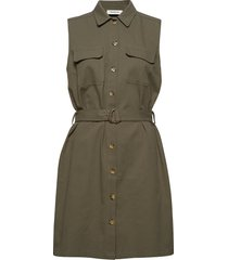 barbara dress korte jurk groen modström