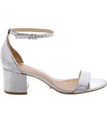 chimes sandal - 11 prata silver crackled leather