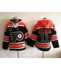 philadelphia flyers 11 travis konecny stadium series hockey hoodie jersey
