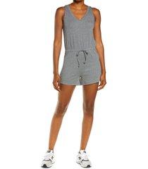 women's madewell mwl breeze drawstring romper, size x-large - grey