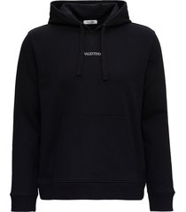 valentino jersey hoodie with logo print